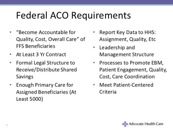 Explaining Accountable Care Organizations Acos Key Strategies For