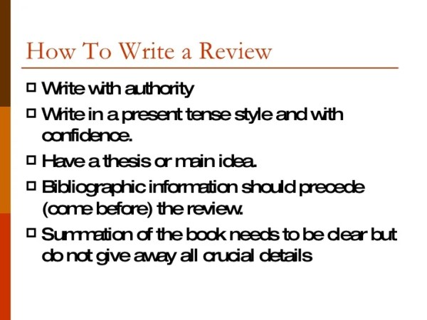 how to write a book review # 23