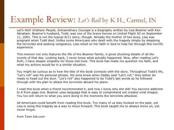 how to write a book review # 16