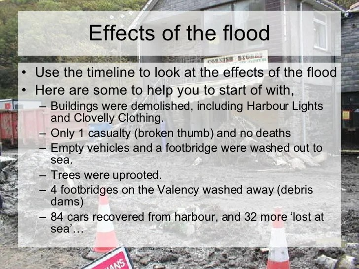 Boscastle Flood Facts