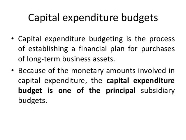 capital budgeting process steps