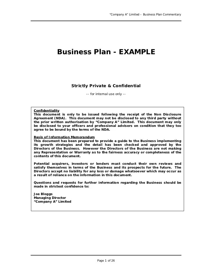 Writing A Business Plan Sample Music Business Business