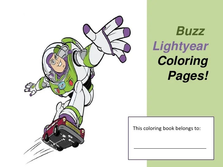 Free Buzz Lightyear Coloring Pages