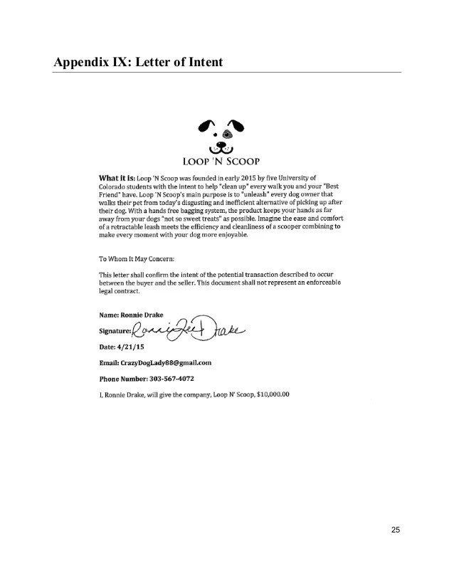 sample letter of intent for franchise application cover letter