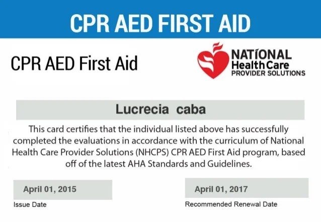 Cpr Card Renewal   Creativeletter.co