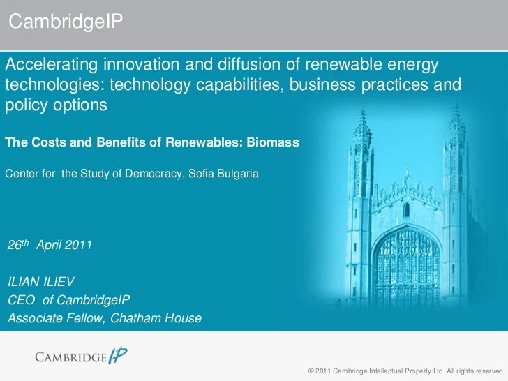 Accelerating innovation and diffusion of renewable energy ...
