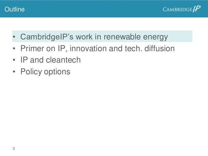 The role of IP in accelerating innovation and diffusion of ...