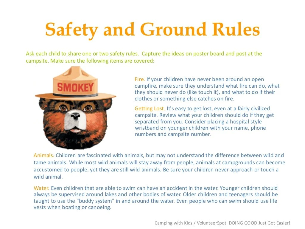 Safety And Ground Rulesask Each Child To Share One Or Two
