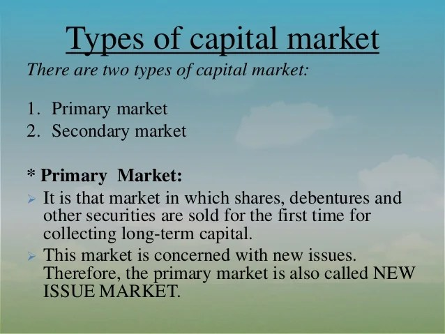 Types Securities Stock Market