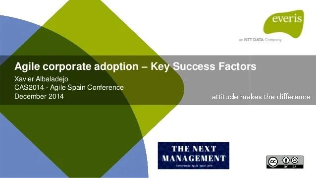 Enterprise Agile adoption - Key success factors