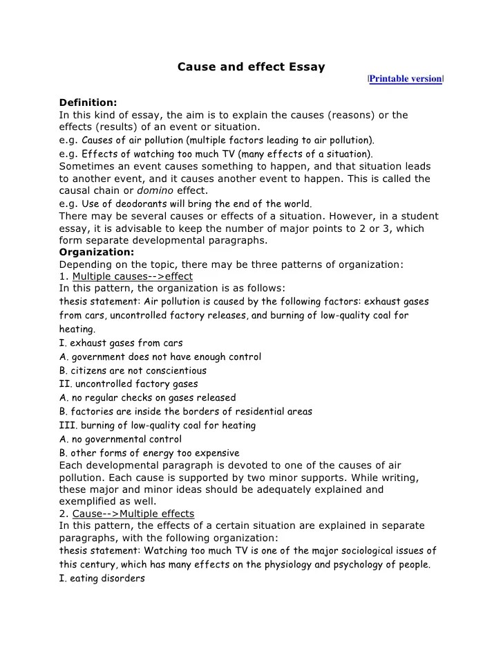 best topic for cause and effect essay  mistyhamel cause and effect essay topics basketball poemsrom co