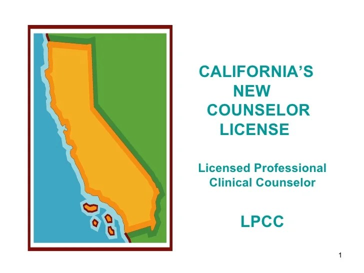 California Coalition for Counselor Licensure Webinar May 2010