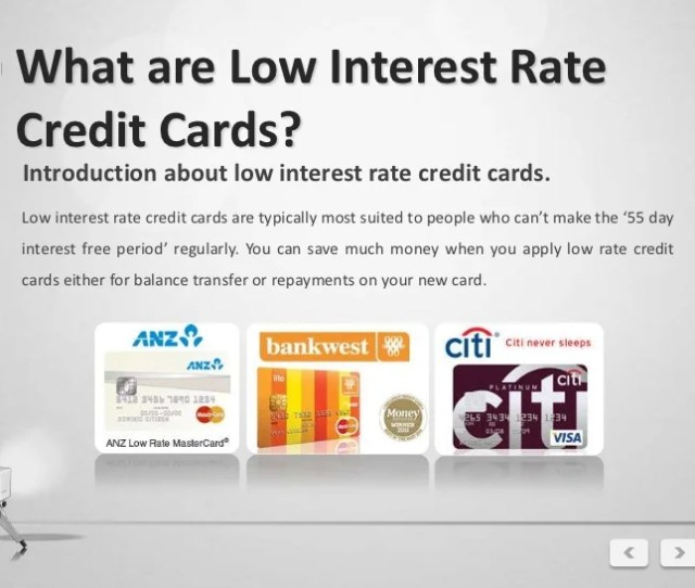 Low Interest Credit Cards 3
