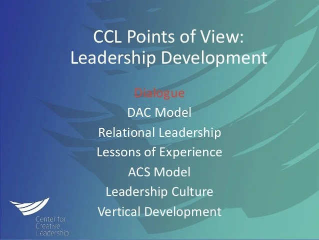 CCL Points of View on Leadership Development Through the ...
