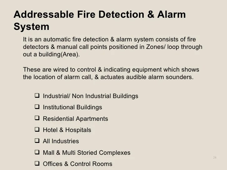 fire detection and alarm system