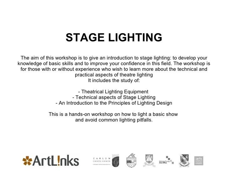 lighting design for amateur theatre