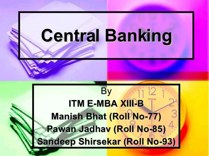 Central Banking (RBI)