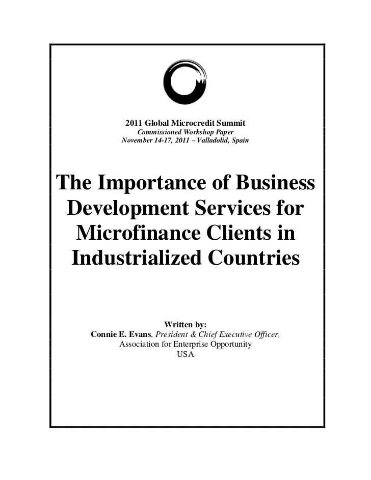 The Importance of Business Development Services for ...