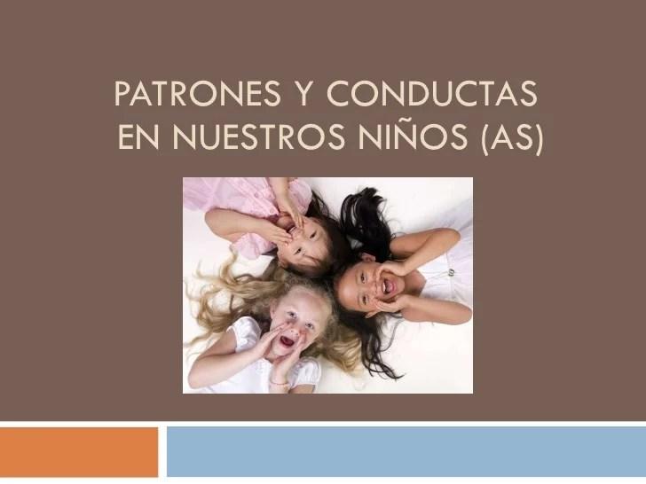 Patrones de conducta en los niños