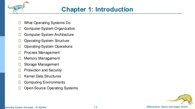 Chapter 1: Introduction to Operating System