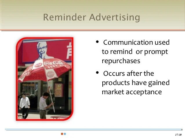 Chapter 17 MKT120 Advertising, PR & Sales