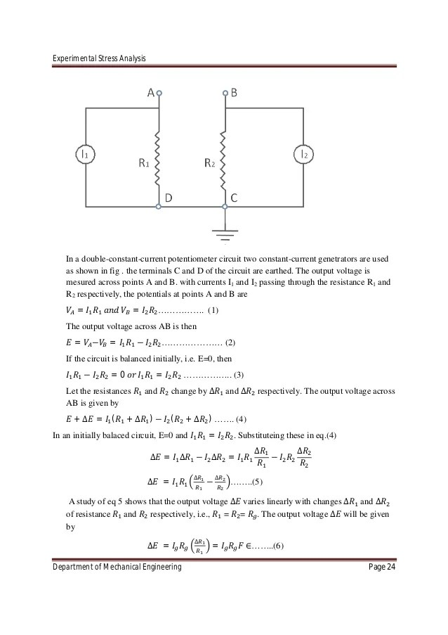 EXPERIMENTAL STRESS ANALYSIS CHAPTER-01