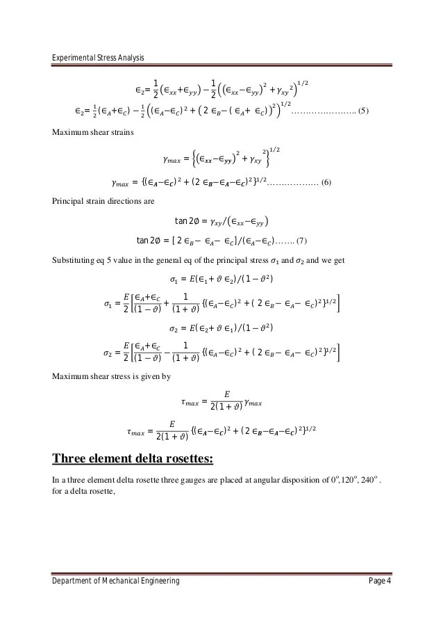 experimental stress analysis-Chapter 2