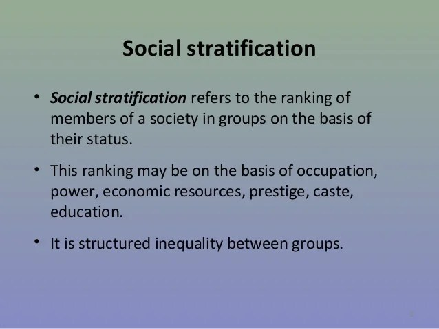 Chapter 3 social stratification