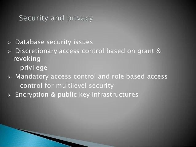 Database Protection Controls
