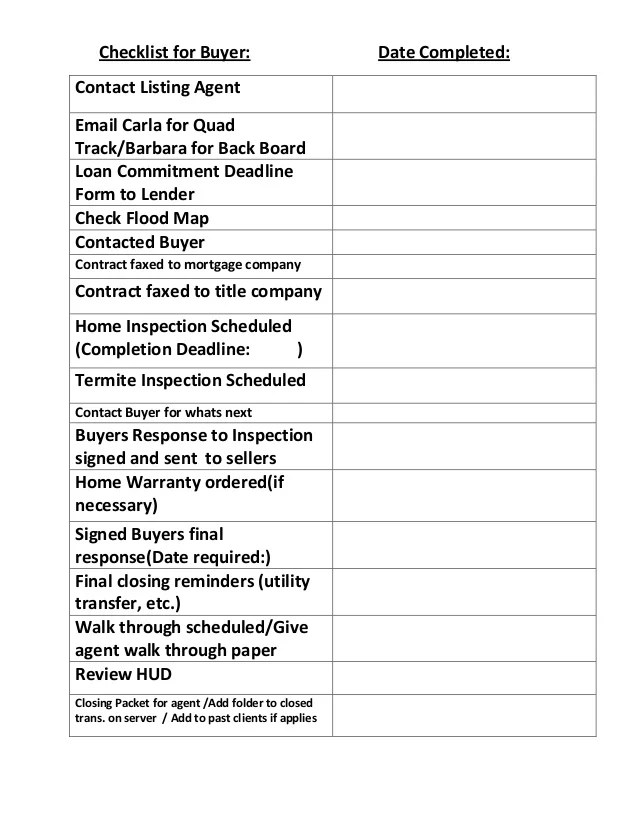 real estate closing checklist template real estate closing checklist template free download