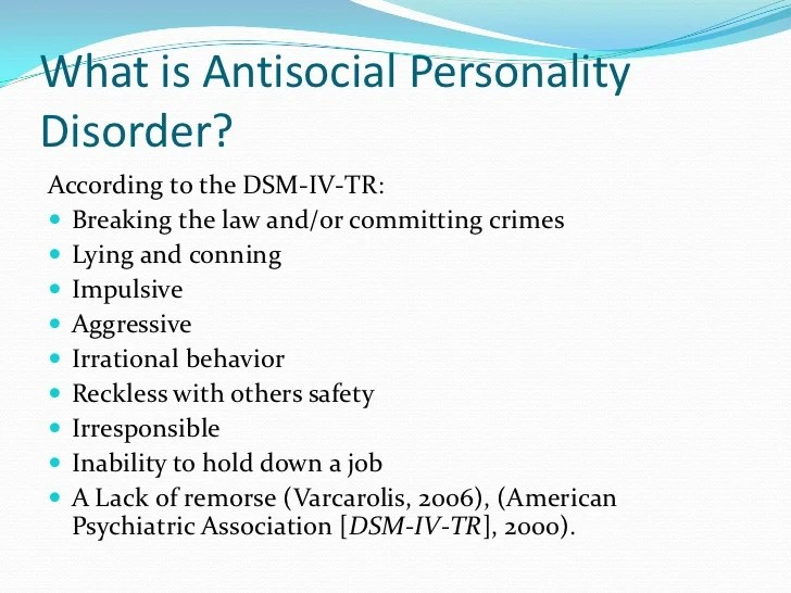 Children And Antisocial Personality Disorder
