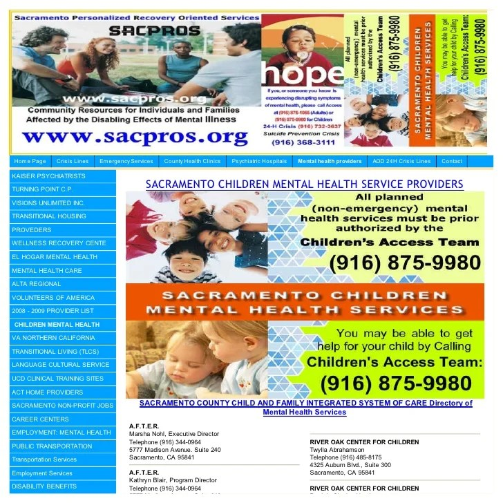Children Mental Health Providers