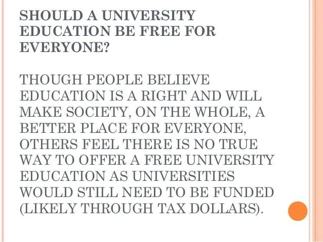 University Education Should Be Free For Everyone Essay - hepatitze