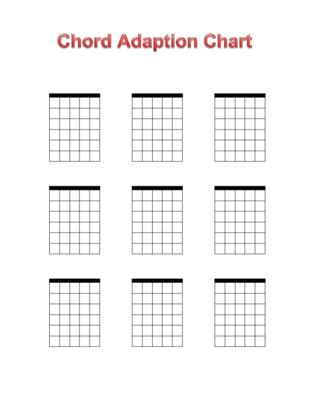 Guitar Chord Blanks Printable