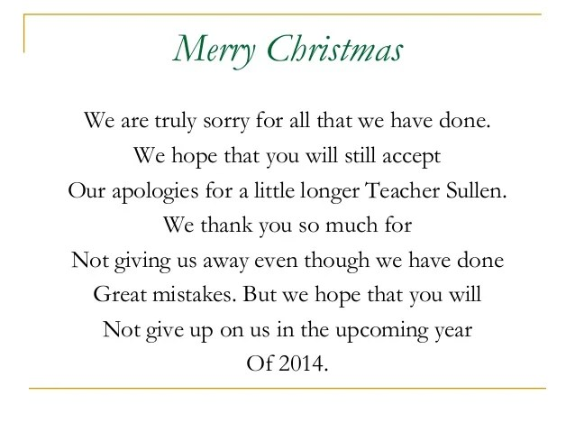 Christmas Party Message From My Benevolent Students