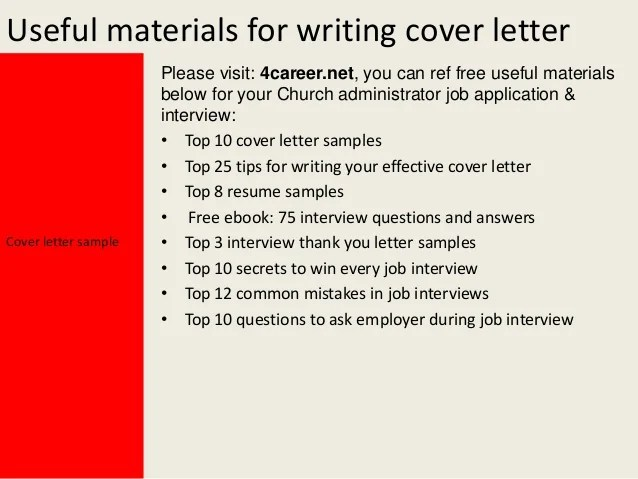 cover letter for church secretary position lettercard co