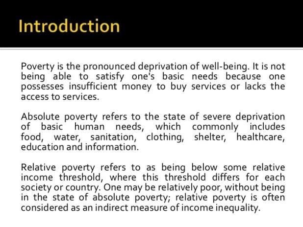 Essay On Causes Of Poverty | Mistyhamel