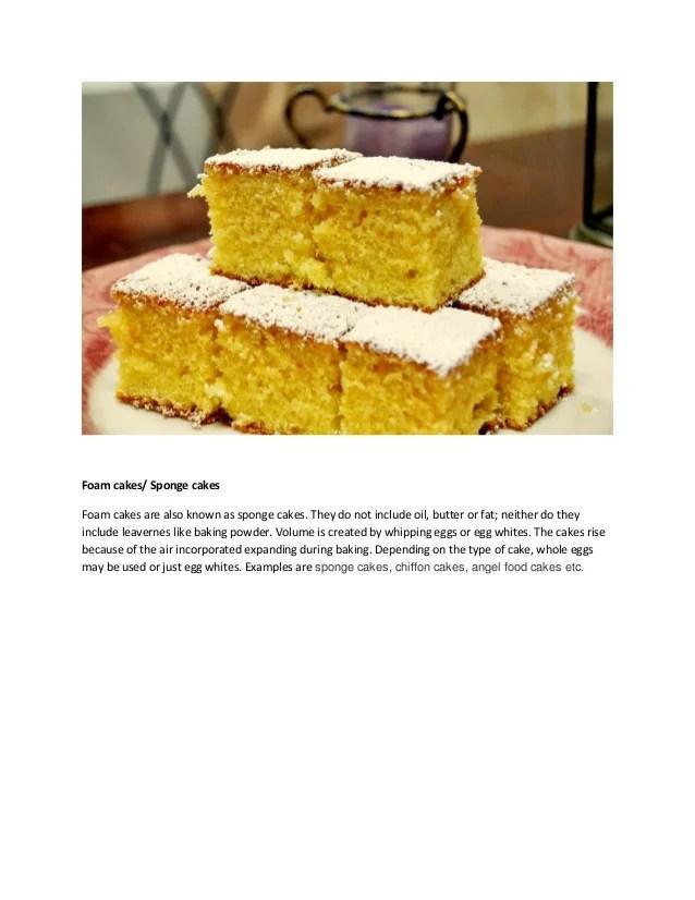 Types Cakes Sponge