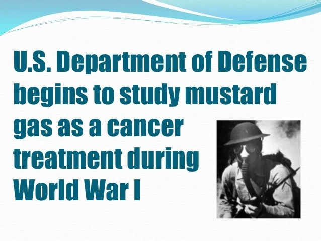Mustard Gas Treatment Exposure