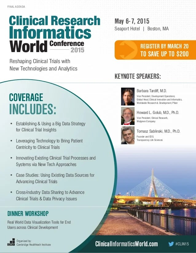 Clinical Research Informatics World 2015