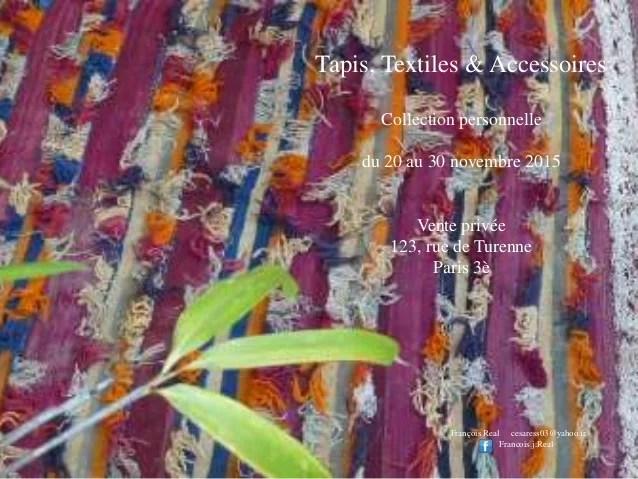 collection privee tapis textile