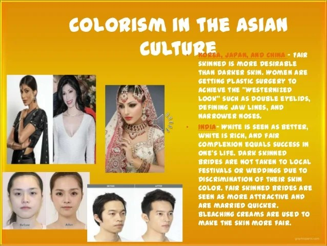 Colorism seems to exist in every country on the globe ...