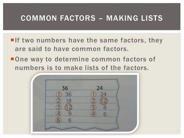 Least Common Multiples 36