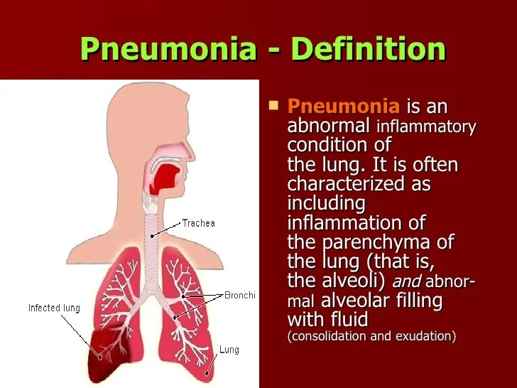 Patient Information Lung Infection