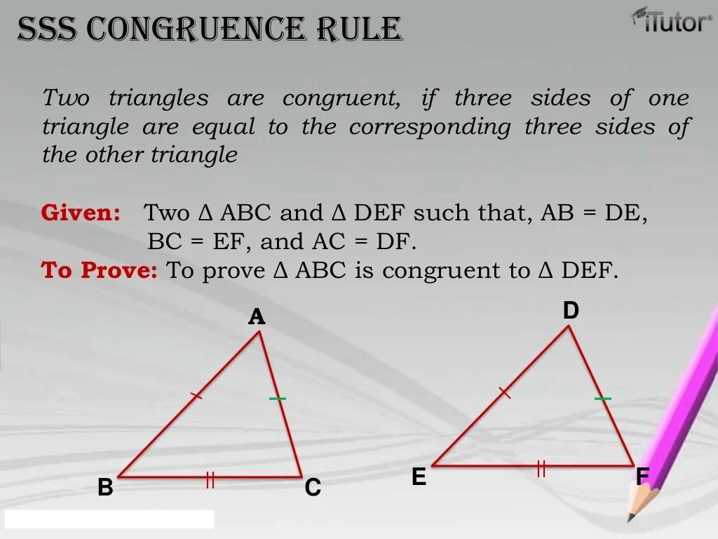 Congruence Of Triangle