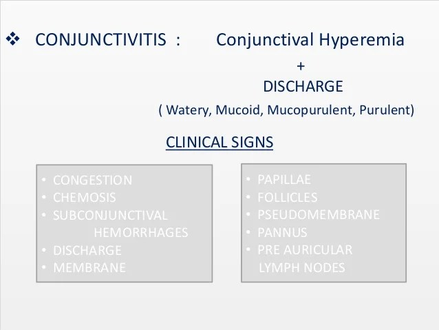 And Conjunctivitis Conjunctival Chemosis Follicular