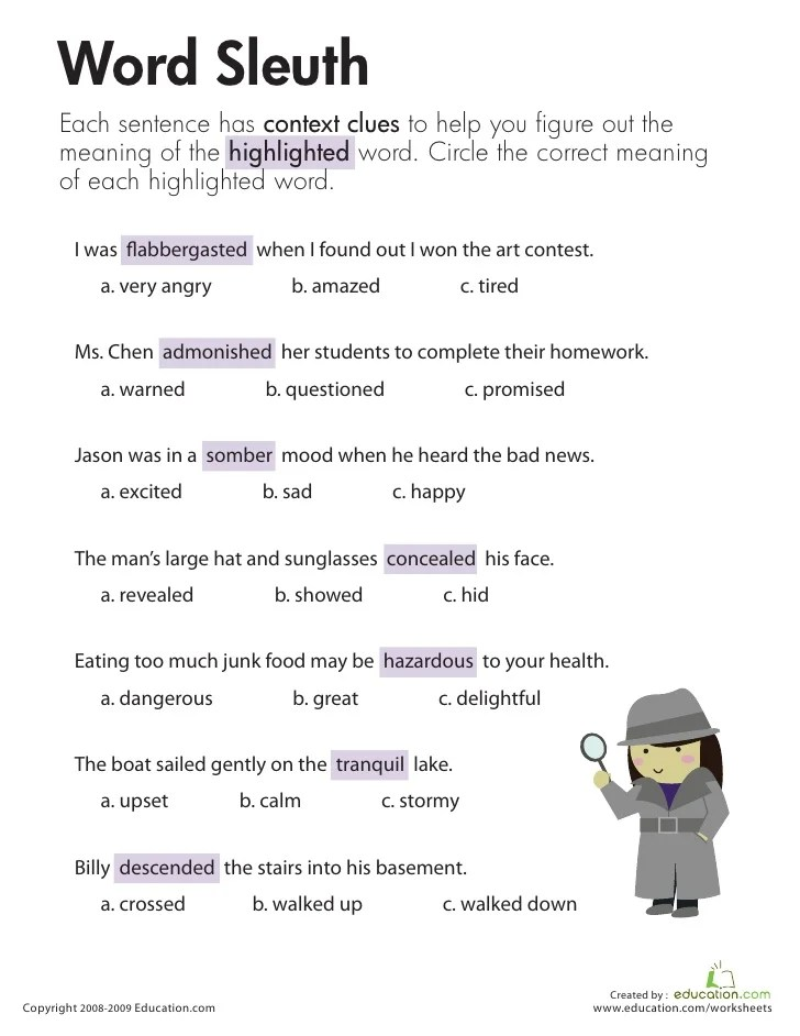 First Grade Synonym Activities