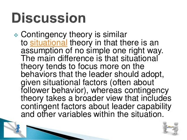 Contingency Factors Theory Fiedler