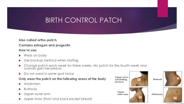 Side Contraceptive Patch Effects
