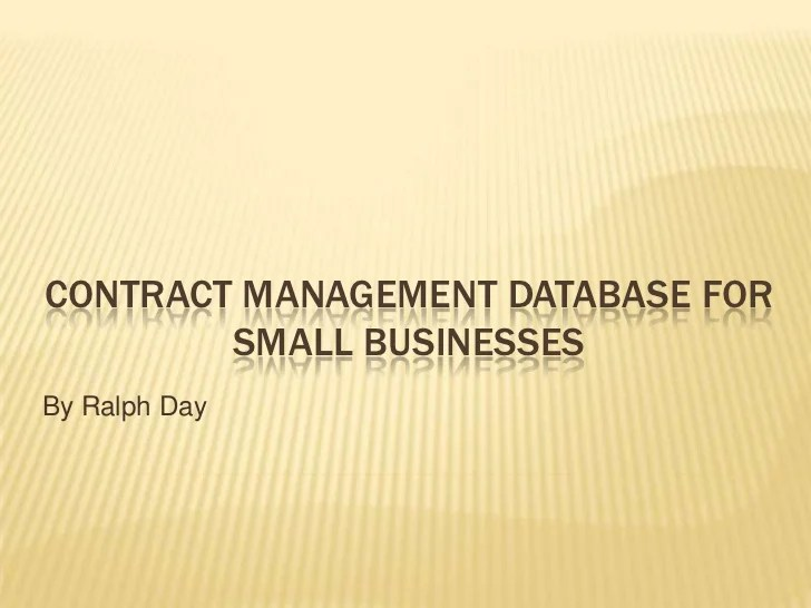 Free excel crm template sdzgd inspirational contract management database access frompo. Contract Management Database For Small Businesses